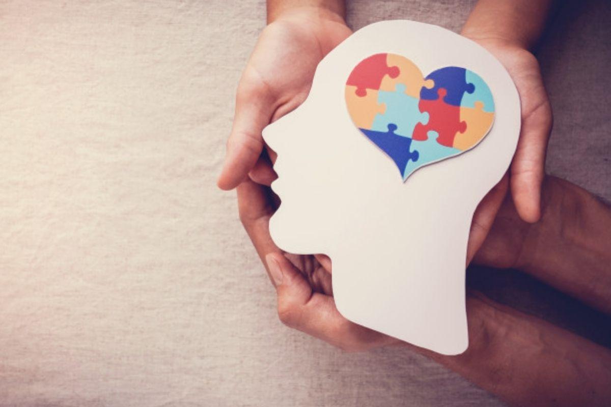 foto simbólica colorida que remete a saúde mental